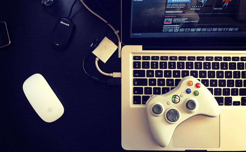 Pad xbox 360 + MacBook Pro